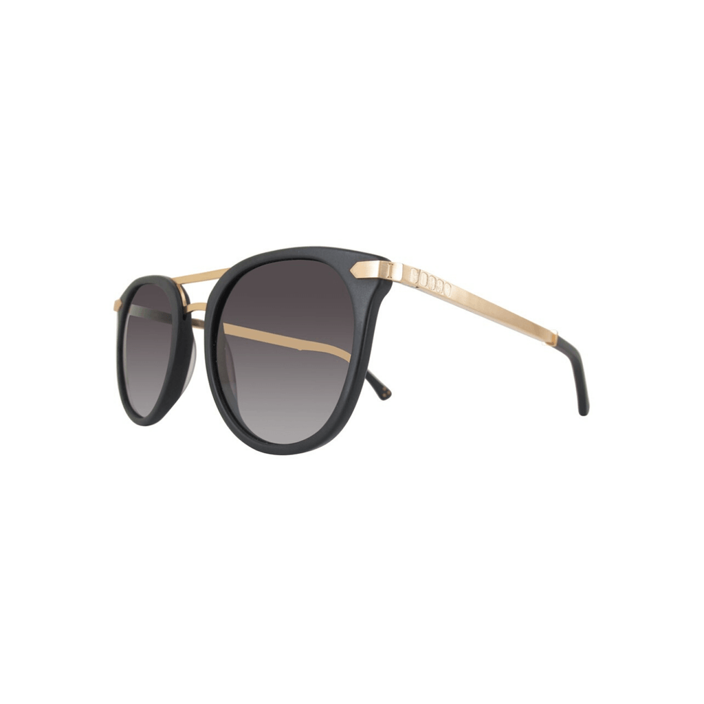 STYLIAN - Iron IRS21-MTBLK/001-52 24K Gold Plated Limited Edition Women's Sunglasses, Matte Black