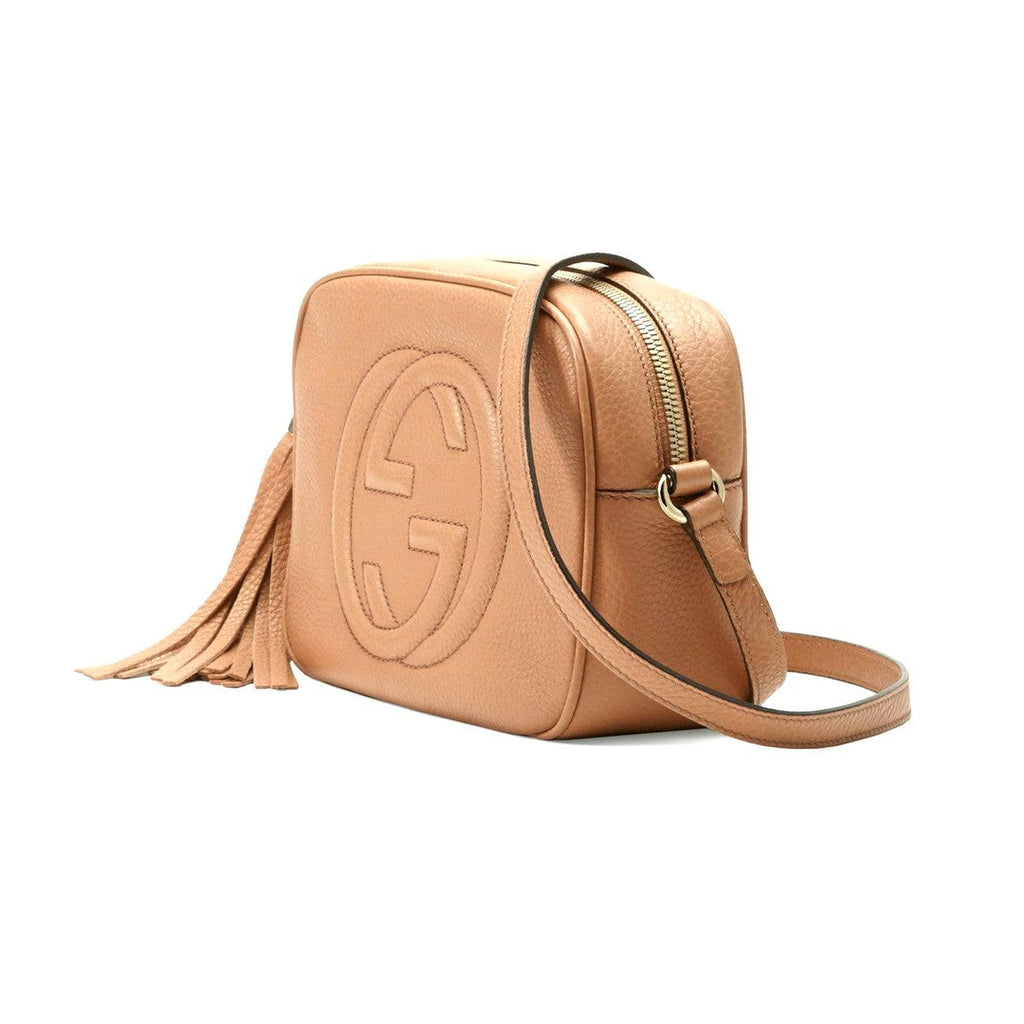 Gucci 308364A7M0G 2754 Soho Small Leather Disco Crossbody Bag, Rose Beige - STYLIAN