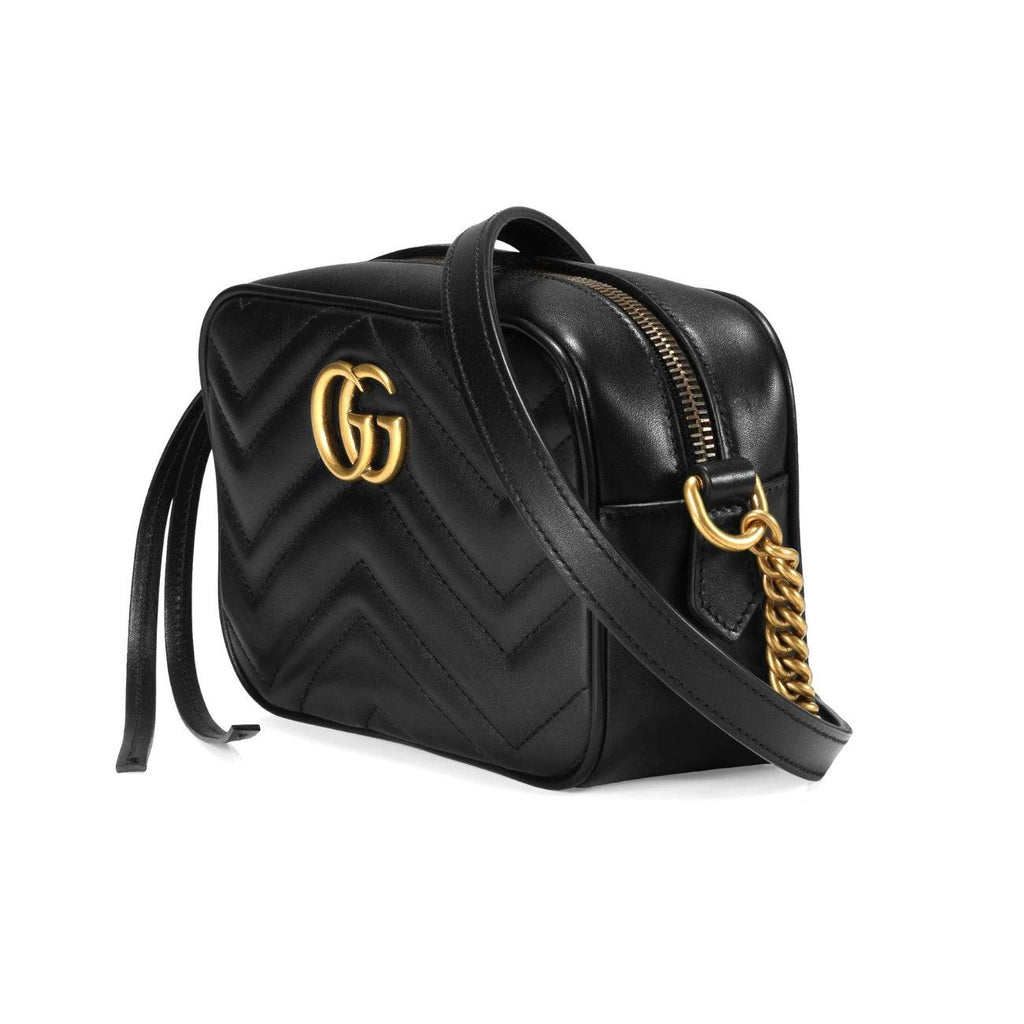 STYLIAN - Gucci 448065DTD1T1000 GG Marmont Matelasse Mini Crossbody Bag, Black