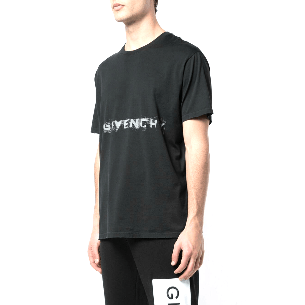 STYLIAN - Givenchy BM70M33002-001 Faded Logo Men's T-Shirt, Black
