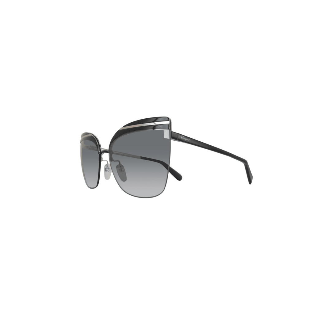 STYLIAN - Ferragamo SF166S-001-60 Oversize Women's Sunglasses, Shiny Black