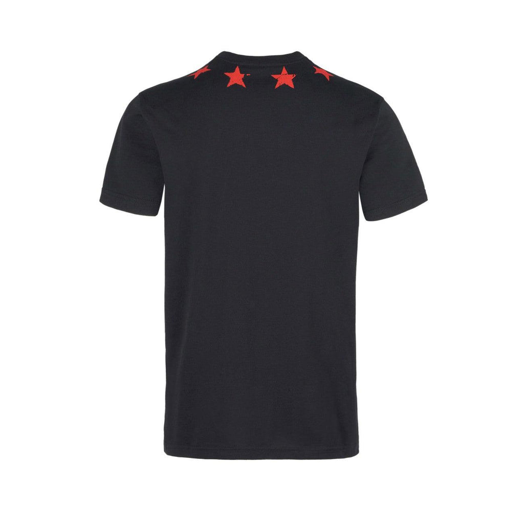 Givenchy BM70KB3002-001 Vintage Red Star Slim Men's T-Shirt, Black - STYLIAN