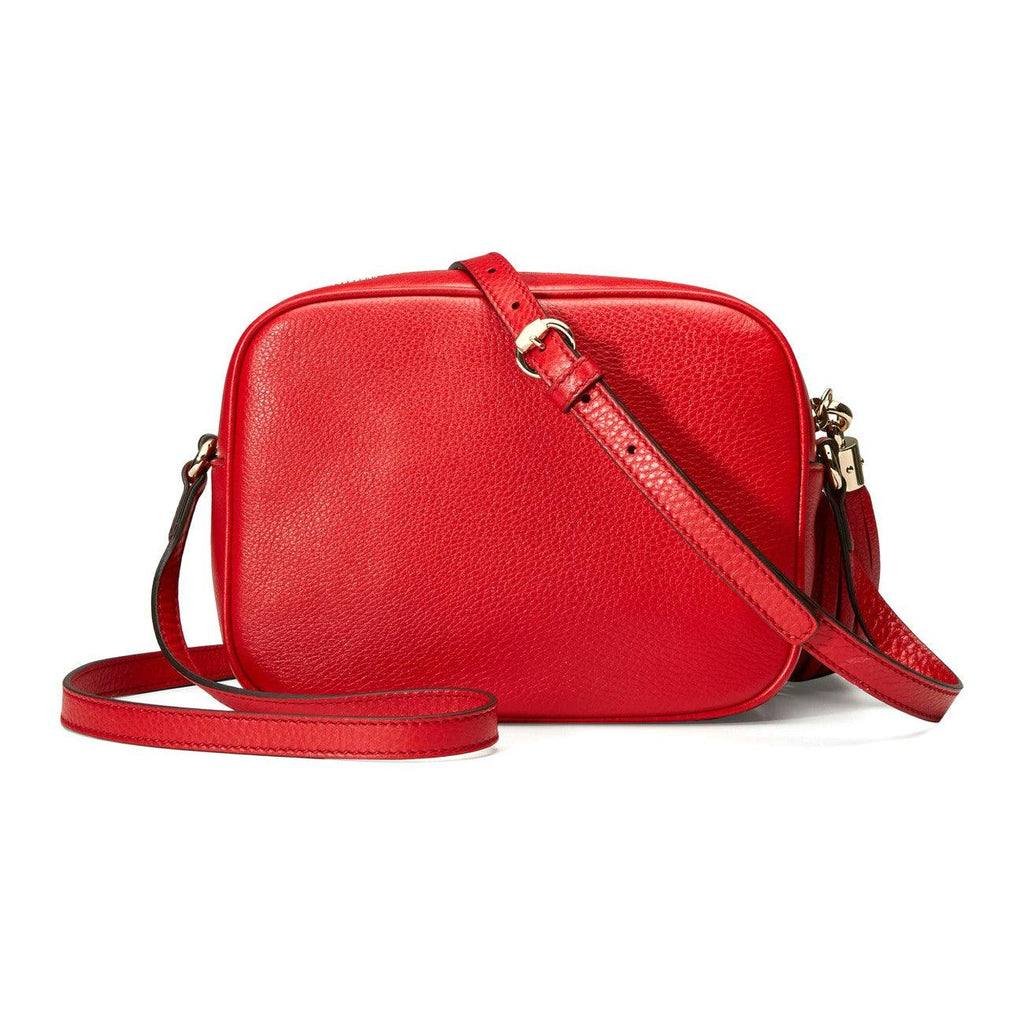 STYLIAN - Gucci 308364A7M0G 6523 Soho Small Leather Disco Crossbody Bag, Red