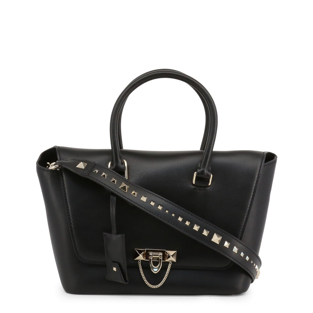 Valentino NW2B0A47MIV0NO Leather Shoulder Bag, Black