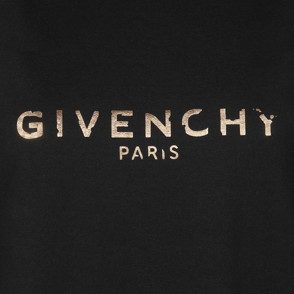 Givenchy BW70603Z2L-001 Vintage Givenchy Paris Masculine Fit Women's T-Shirt, Black
