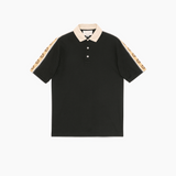 STYLIAN - Gucci 598949XJB0Q1082 Interlocking G Stripe Men's Polo Shirt, Black