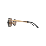 STYLIAN - Iron IRO25-BLK-50 24K Gold Plated Limited Edition Clip-On Men's Sunglasses, Antic Gold