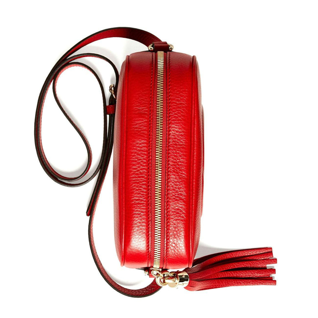 STYLIAN - Gucci 308364 A7M0G 6523 Soho Small Leather Disco Crossbody Bag, Red