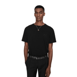 STYLIAN - Givenchy BM70K93002-001 Givenchy Distressed Logo Men's T-Shirt, Black