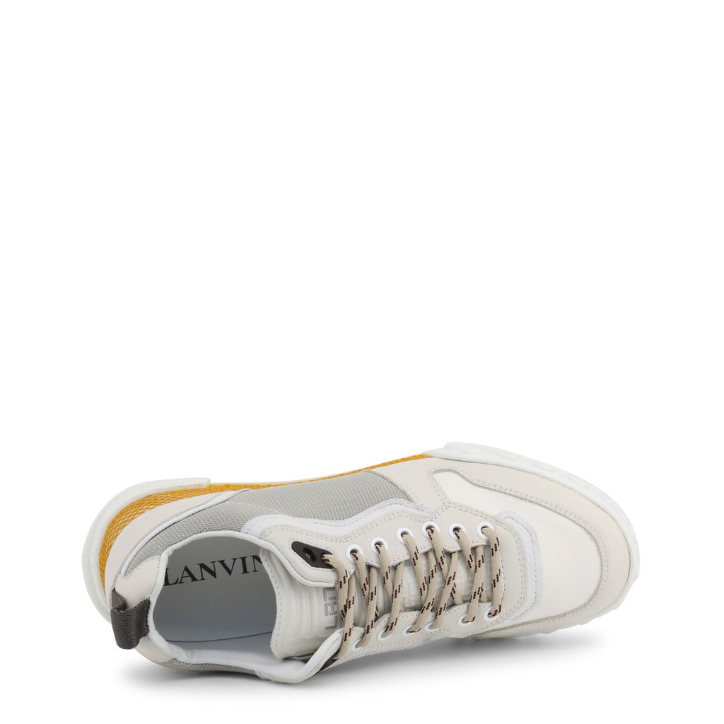 Lanvin SKBOLA-RISO Leather Men's Sneaker, White - STYLIAN