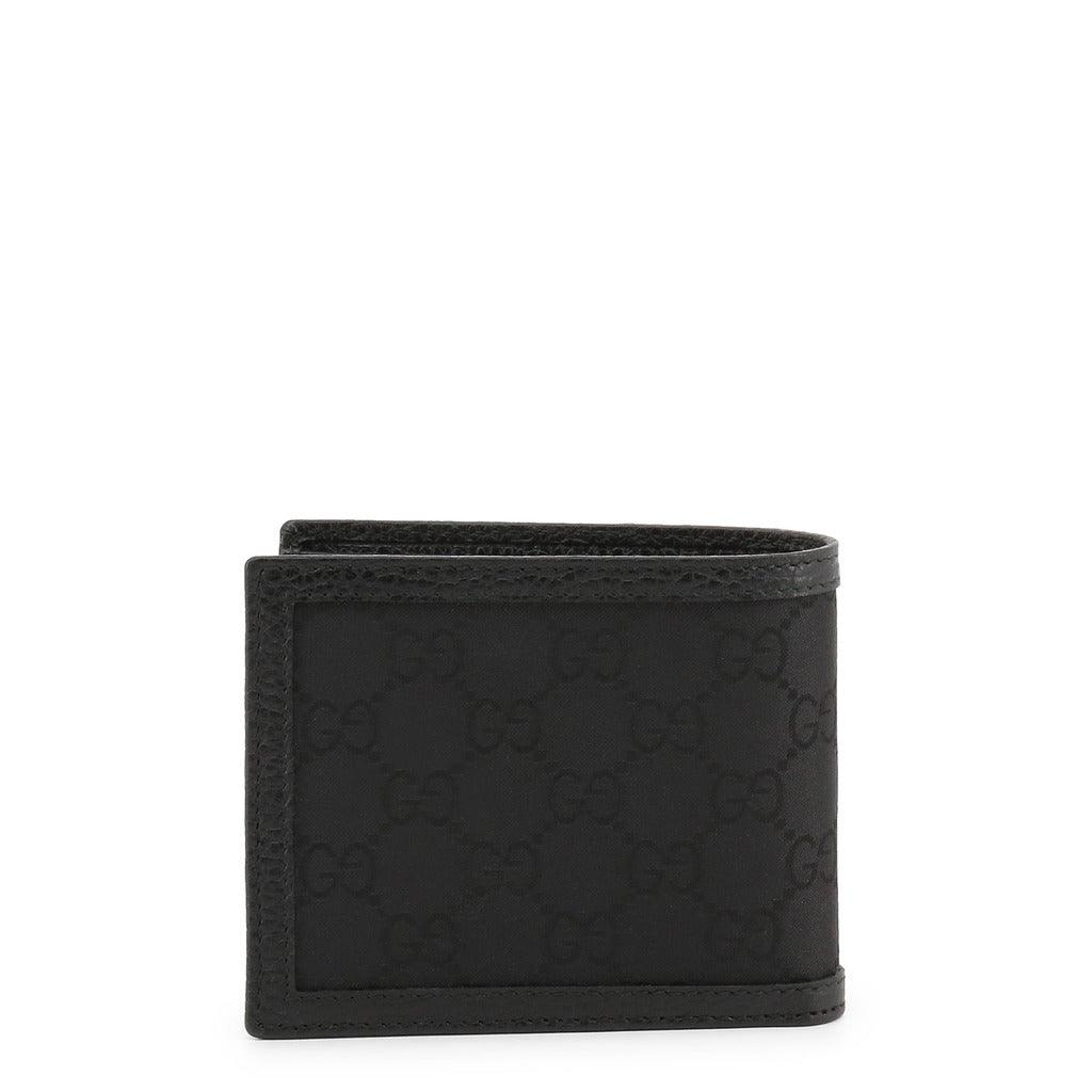 Gucci 260987G1XWN 8615 Interlocking GG Canvas Bifold Men's Wallet, Black - STYLIAN