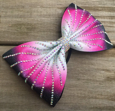Center Ombré Bow With Rhinestones