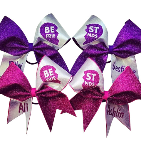Best friends bows. Can be made in any color combinations. Made with glitter. - BRAGABIT