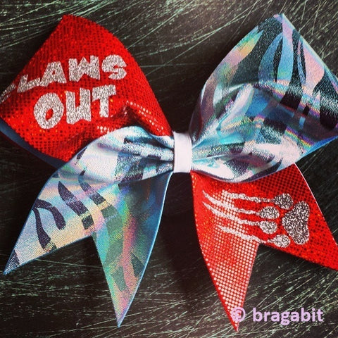 Claws out cheer bow. - BRAGABIT
