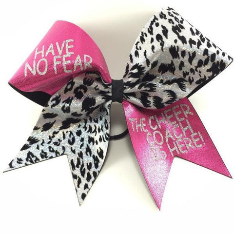 coach pink and cheetah print  cheer bow. - BRAGABIT  - 1