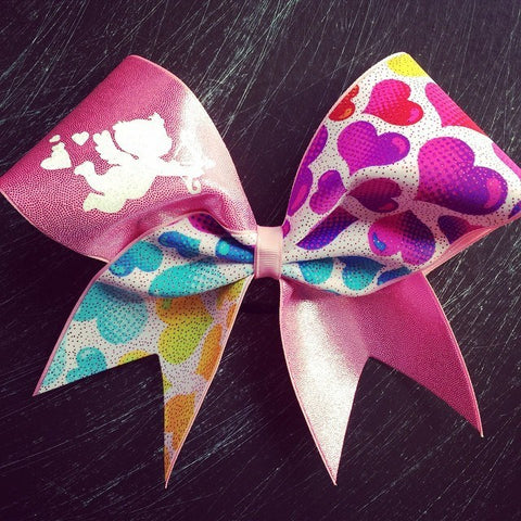 Cupid cheer bow with hearts - BRAGABIT