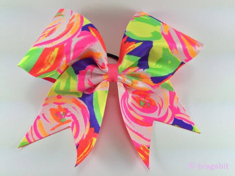Flower pattern multicolor bow. - BRAGABIT  - 1