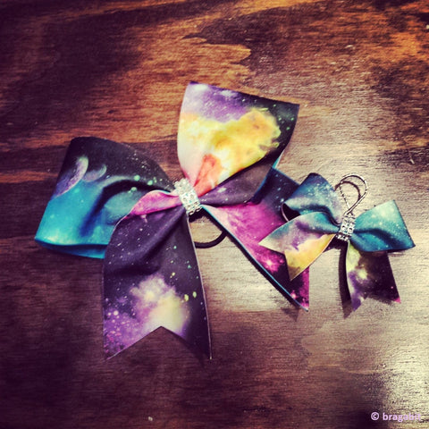 galaxy cheer bow and keychain. - BRAGABIT