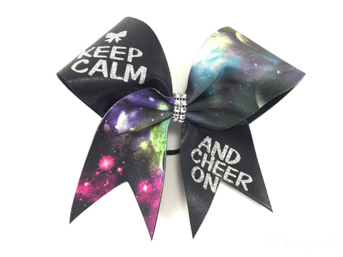Galaxy keep calm and cheer on cheer bow - BRAGABIT  - 1