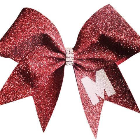 Glitter bow with  letter, name or phrase - BRAGABIT