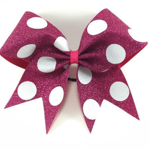 Glitter bow with white polka dots - BRAGABIT  - 1