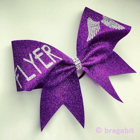 Glitter Flyer cheer bow. - BRAGABIT