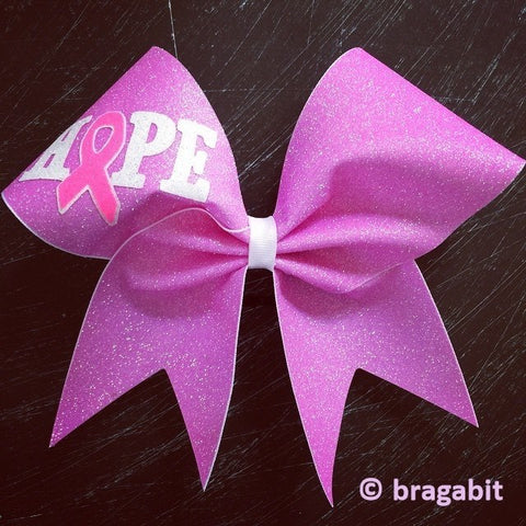 Hope Light pink glitter bow. - BRAGABIT