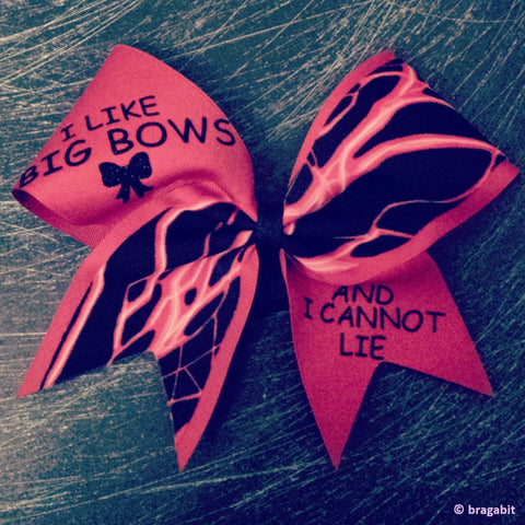 I like big bows and I cannot lie RED  bow. - BRAGABIT
