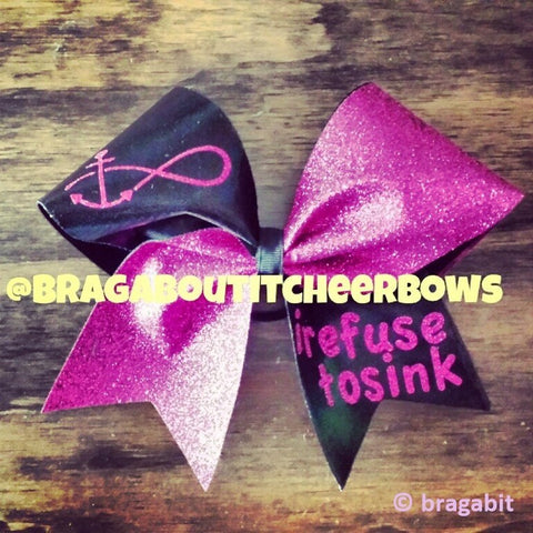 I refuse to sink cheer bow. - BRAGABIT