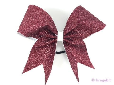 Maroon glitter on white ribbon. - BRAGABIT  - 1
