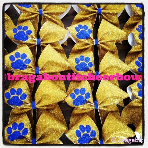 Mascot bow.Glitter bow with paw. - BRAGABIT  - 1