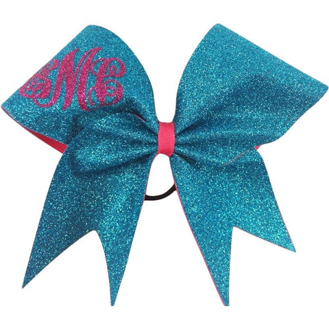 Monogram glitter cheer bow. - BRAGABIT  - 1