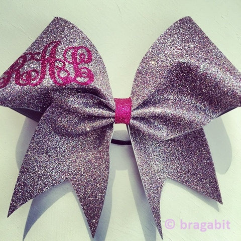 Monogram multicolor glitter cheer bow - BRAGABIT