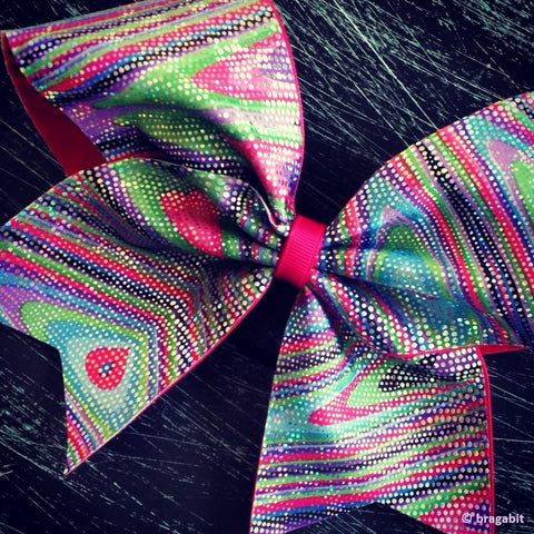 multicolor cheer bow. - BRAGABIT