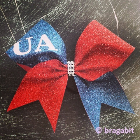 Navy and red glitter with your name or team name. - BRAGABIT