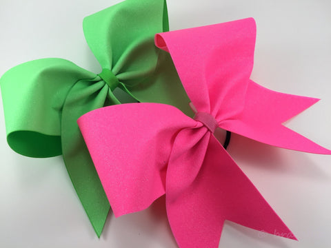 Neon glitter cheer bows. - BRAGABIT  - 1