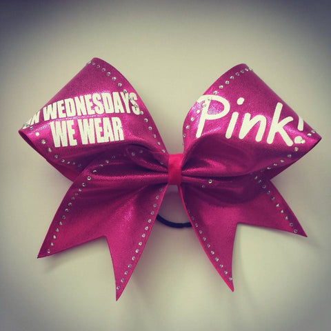 On Wednesdays we wear pink bow. - BRAGABIT