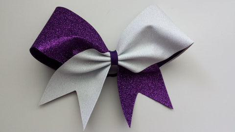 Purple and white glitter bow. - BRAGABIT