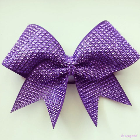 Purple rhinestone material bow. - BRAGABIT
