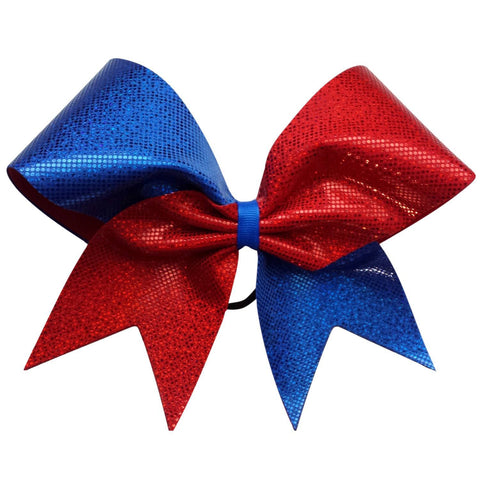 Red and blue shattered glass bow. - BRAGABIT