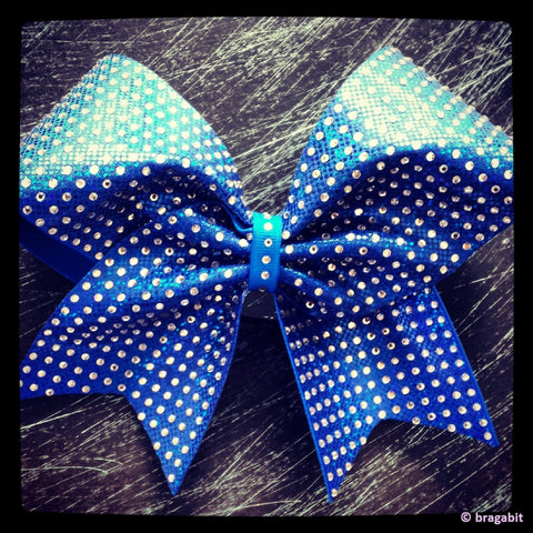Rhinestones cheer bow. Different colors are available. - BRAGABIT