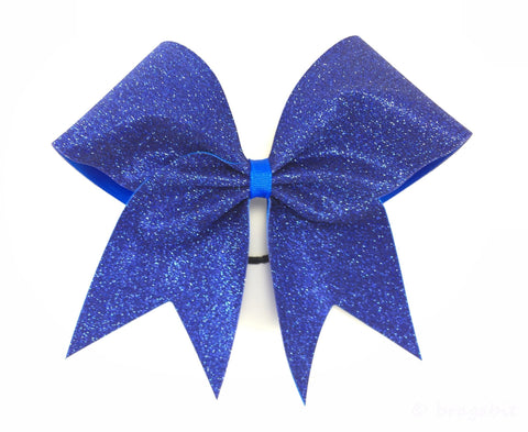 Royal blue glitter cheer bow. - BRAGABIT  - 1