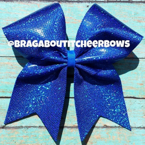 Royal blue holographic bow. - BRAGABIT