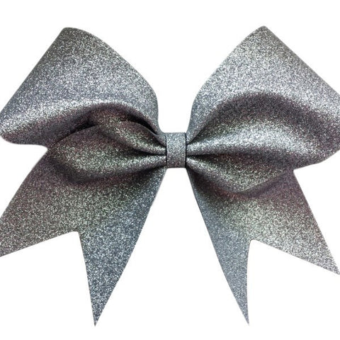 Silver glitter cheer bow. - BRAGABIT  - 1