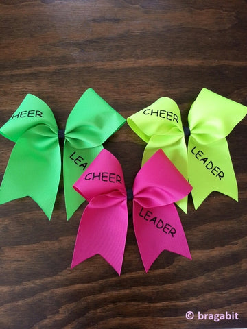 Simple ribbon cheerleader  bow - BRAGABIT