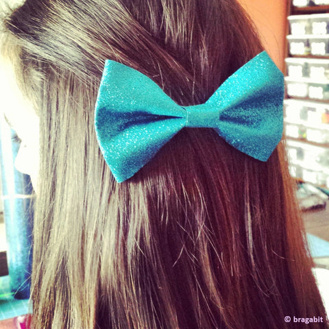 Sparkly cheer bow tie bow - BRAGABIT  - 1