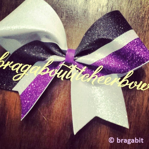 Three color glitter bow. Can be made in different color combinations. - BRAGABIT