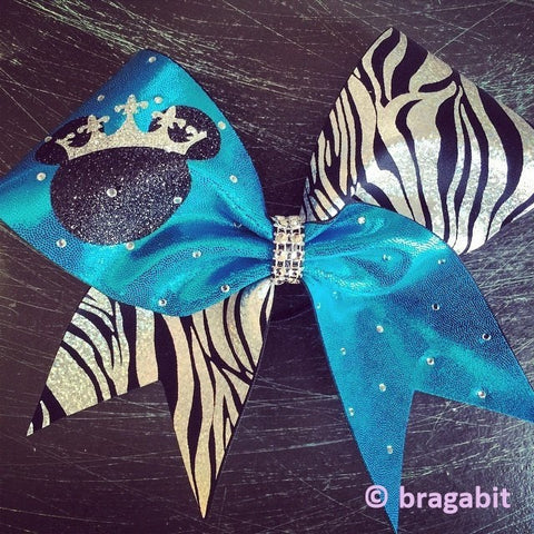 Turquoise black and silver zebra with rhinestones and glitter. - BRAGABIT