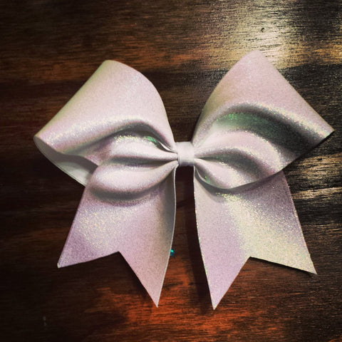 white glitter cheer bow - BRAGABIT  - 1
