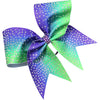 2 color ombre glitter bow with AB rhinestones. - BRAGABIT  - 1